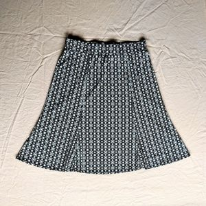 Stretch Geometric Print Skirt EUC